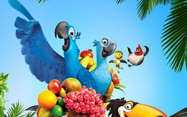 click to free download the wallpaper--RIO Movie 2011 Post in 2560x1600 Pixel, All Guys Happy and Exciting, Warmly Welcomed, Life is Indeed Wonderful a Partner - TV & Movies Post