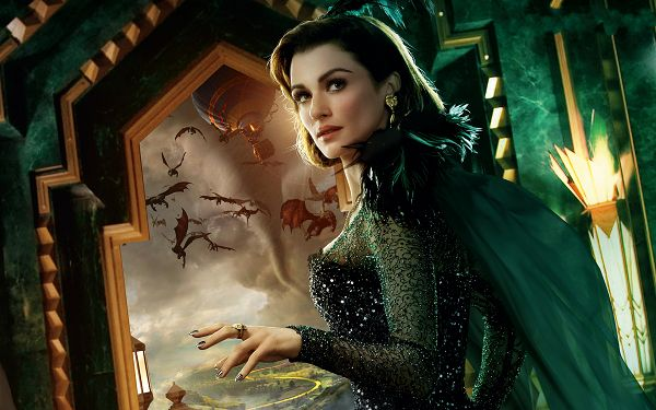 Rachel Weisz Oz Post in 2880x1800 Pixel, Mysterious Lady in Green Dress, Will She Jump Out of the Window and Run? - TV & Movies Post
