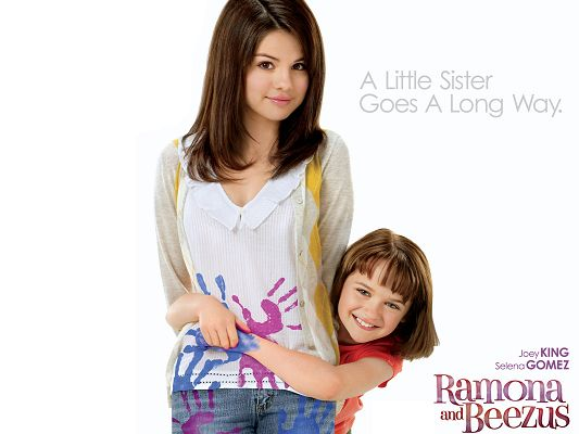 click to free download the wallpaper--Ramona & Beezus 2010 Post in 1600x1200 Pixel, Two Kids Close to Each Other, Sisterhood is Just Great, Admire, Don't You? - TV & Movies Post