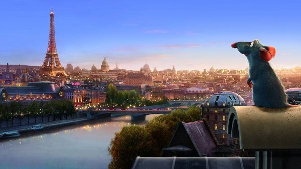 click to free download the wallpaper--Ratatouille in 1920x1080 Pixel, a Little Gray Mouse is Out of His Small Home for the First Time, He is Curious and Cute - TV & Movies Wallpaper