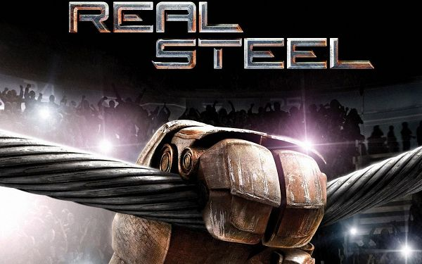 click to free download the wallpaper--Real Steel 2011 Movie Post in 1920x1200 Pixel, Metal Hand on a Thick String, the Representation of Strength and Power - TV & Movies Post