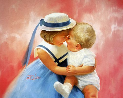 Reminds One of Happy Childhood Times, the World is Full of Laugher and Happiness - Childhood Painting Wallpaper