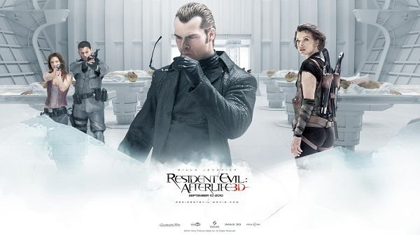 click to free download the wallpaper--Resident Evil Afterlife Post in 1920x1080 Pixel, All Guns Are Pointing at One Man, What Makes Him So Wanted? - TV & Movies Post