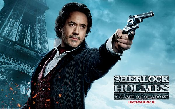 click to free download the wallpaper--Robert Downey Jr in Sherlock Holmes 2 in 1920x1200 Pixel, a Handsome and Amazing Guy, Hair and Eyes All Glowing - TV & Movies Wallpaper