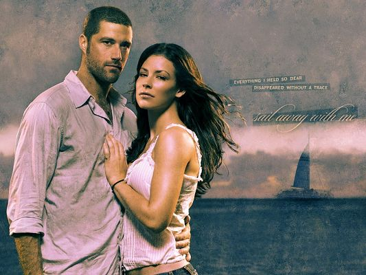 Romantic Posters of TV & Movie, Kate and Jack in Lost, Wherever You Go, I Am by Your Side