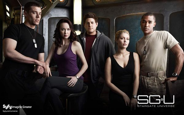 click to free download the wallpaper--SGU Stargate Universe Post in 1920x1200 Pixel, Good-Looking Men and Women, Ladies Have Taken a Seat, Learn from These Gentlemen - TV & Movies Post