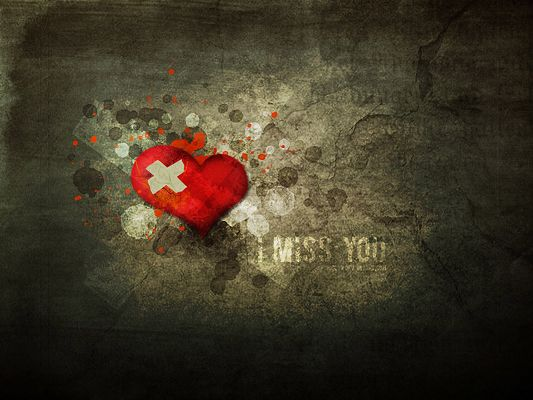 Sad Love Poster, Heart is Hurt, It is Missing Someone