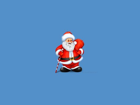 Santa Claus is Taking a Bag of Gifts, Christmas and Holiday Wallpapers Are Always Favored
