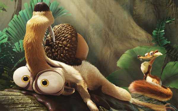 click to free download the wallpaper--Scrat in Ice Age 3 Available in 2560x1600 Pixel, Scrat is Determined and Persistent, the Nuts Will be His - TV & Movies Wallpaper