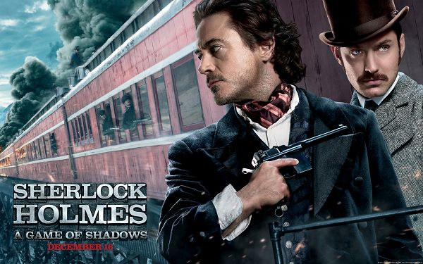 click to free download the wallpaper--Sherlock Holmes 2 HD in 1920x1200 Pixel, the Guy is Always the Center of Focus, Shall Fit Well Your Device - TV & Movies Wallpaper