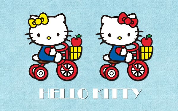Shopping is Done, Time to Go Back Home, Both Baskets are Full, Supermarket is a Good Place to Go - HD Hello Kitty Wallpaper