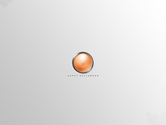 Simple Holiday Wallpaper, a Round Pumpkin in the Center, White Background, Great in Look