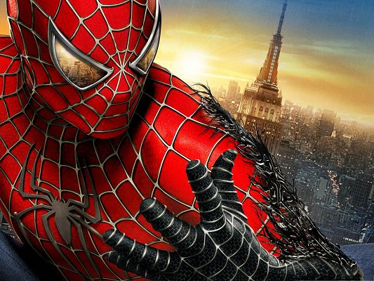 click to free download the wallpaper--Spider Man, Can Go Wherever He Wants - Free Movies Wallpaper