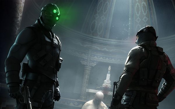 click to free download the wallpaper--Splinter Cell Conviction 2010 Game Post in 1920x1200 Pixel, Two Men Having an Argument on the Third Man, Can You Make It Quick? - TV & Movies Post