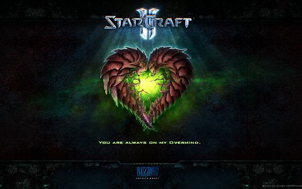 click to free download the wallpaper--StarCraft II Game Post in Pixel of 1920x1200, 2 Monsters in Heart Shape, They Are Good-Looking and Shall Fit - TV & Movies Post