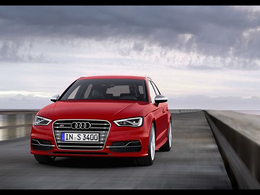 click to free download the wallpaper--Super Car Image of Audi S3, Seen from Front Angle, It is Impressive in Pretty Everything