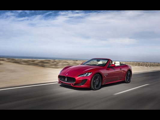 Super Car Images of Maserati GranCabrio, in Sport Motion Front, It Shall Grab Attention Wherever It Goes
