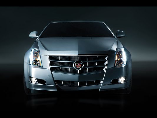 click to free download the wallpaper--Super Cars Image of Cadillac CTS Coupe, Studio Front, Everything is Just Perfect