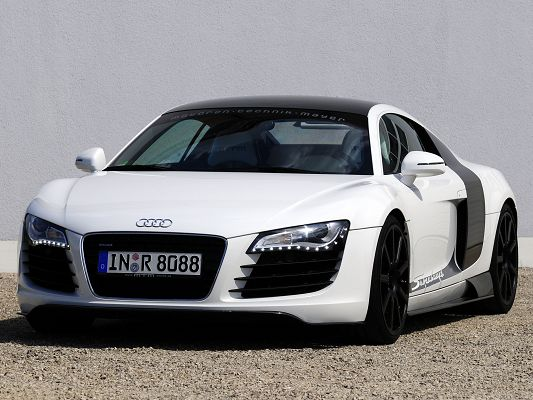 click to free download the wallpaper--Super Cars Wallpaper, Audi R8R Supercharged, Can Run at Any Time