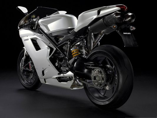 click to free download the wallpaper--Super Cars Wallpaper, Ducati 1198 Superbike in Stop, Impressive Look Overall