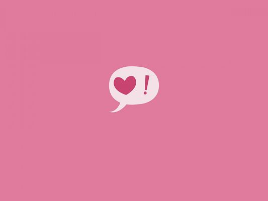 click to free download the wallpaper--Sweet Love Pics, Valentine's Day Symbol, Pink Background, Incredible Look