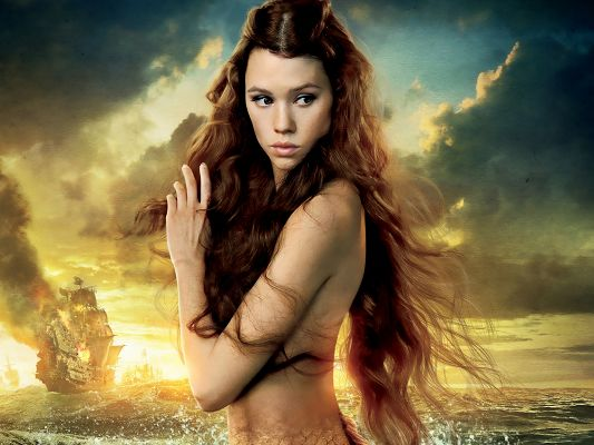 click to free download the wallpaper--Syrena in Pirates of the Caribbean Post in 1920x1440 Pixel, a Naked and Beautiful Girl, Shall Gain Your Device Overwhelming Attention - TV & Movies Post
