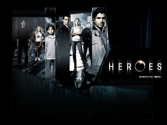 click to free download the wallpaper--TV Desktop Wallpaper, Heroes Folding, the Guys Are Powerful and Good