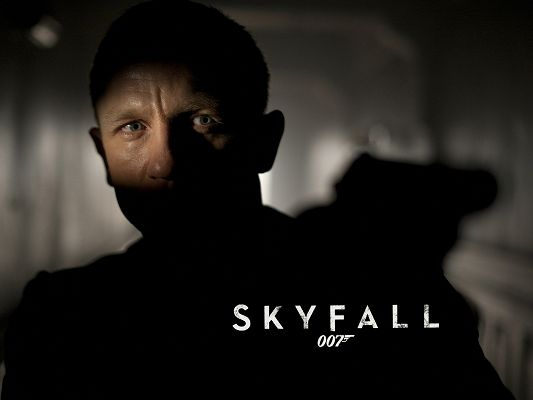 click to free download the wallpaper--TV & Movies Poster, James Bond Skyfall, the Gun in Gun, Ready to Shoot