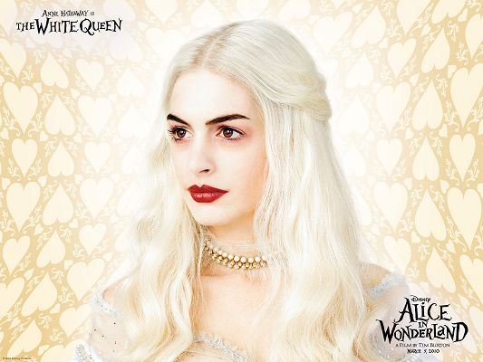 click to free download the wallpaper--TV & Movies Posts, Anne Hathaway as the White Queen, Alice in Wonderland