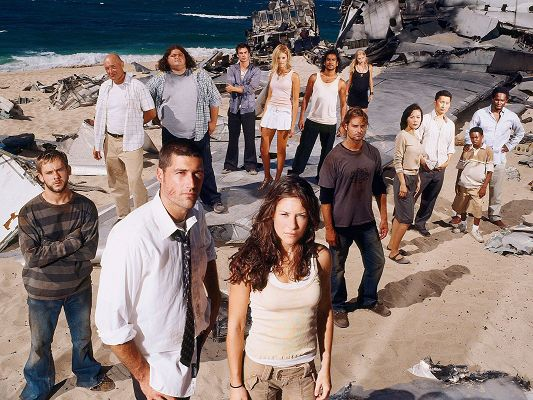 TV Series Cast, Lost Characters Standing by the Beach, Will Make Their Way Out