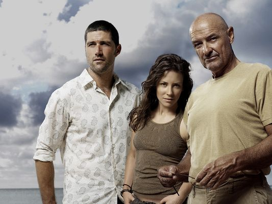 TV Series Wallpaper, Jack Kate and Locke at Ease, Things Will be Fine