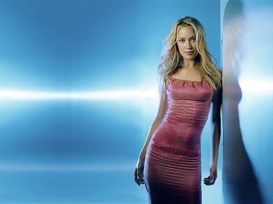 Terminator 3 Actress Kristanna Loken Post in Pixel of 1920x1440, Girl in Pink Dress, She is the Sweet Princess - TV & Movies Post