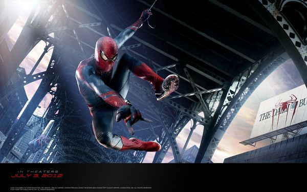 click to free download the wallpaper--The Amazing Spider Man in 1680x1050 Pixel, a Sticker-Like Man, He is Someone that Shall Always Keep People Protected - TV & Movies Wallpaper