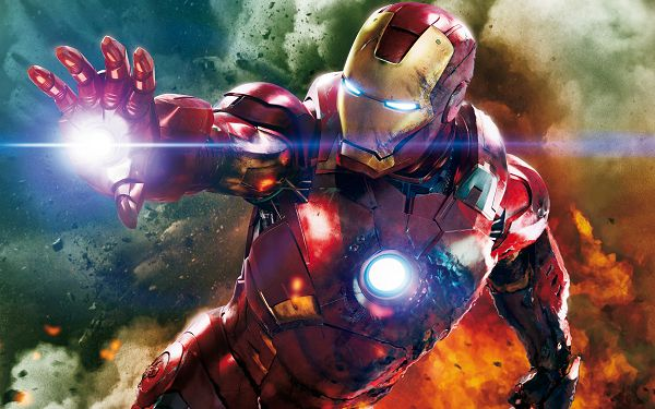 click to free download the wallpaper--The Avengers Iron Man in 3600x2250 Pixel, a Lighted Releasing His Great Power, He is Hard to Believe - TV & Movies Wallpaper
