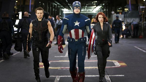 The Avengers Team in 1920x1080 Pixel, Walking in a Line Hurriedly and Seriously, They Are Up to a Big and Hard Task - TV & Movies Wallpaper