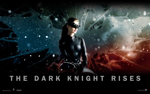 The Dark Knight Rises Official 3 in High Quality and Resolution, a Sexy Cool Girl in Black Suit and Glass, She is Good-Looking and Fit - TV & Movies Wallpaper