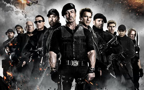 click to free download the wallpaper--The Expendables 2 in 1920x1200 Pixel, All Armed to Teeth, However Hard the Task is, They Will Get It Done, Trust and Cooperation Weigh Quite Heavy - TV & Movies Wallpaper