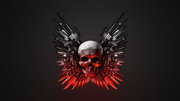click to free download the wallpaper--The Expendables Weapons in High Quality and Resolution, is Good and Scary in the Look, Shall Fit Various Users - TV & Movies Wallpaper