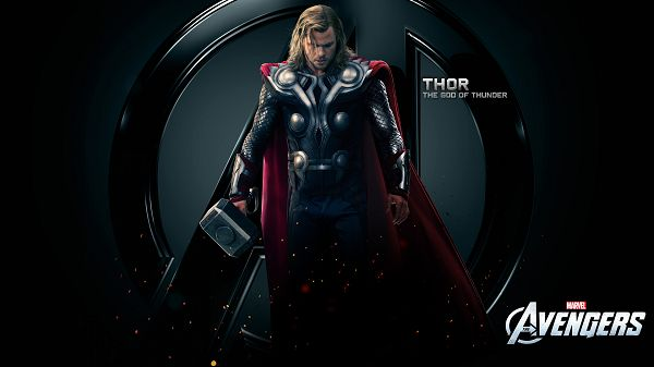 The God of Thunder in 1920x1080 Pixel, in Hammer and Depressed Facial Expression, it is Better Off Keeping Away from Him - TV & Movies Wallpaper