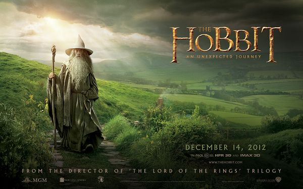 click to free download the wallpaper--The Hobbit Movie in 1920x1200 Pixel, Magic and Powerful Man Walking in Beautiful Scene, Must be Early Morning, Wish You a Success in Your Task - TV & Movies Wallpaper