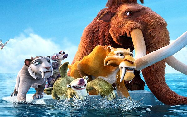 click to free download the wallpaper--The Ice Age 4 in 1920x1200 Pixel, Ice is a Thing of the Past, Has to Leave for a Safe Place, Global Warming is Harmful - TV & Movies Wallpaper