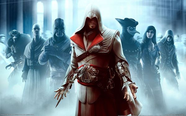 The Man Armed to Teeth, A Number of Other Men Support Him up, Evil Men Will Shake - Assasin's Creed Wallpaper