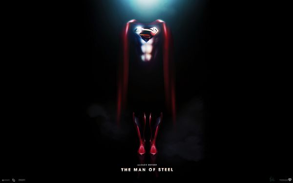 click to free download the wallpaper--The Man of Steel in 1920x1200 Pixel, Red Steel Man Suit is Well Worth Trying, Shall Make Your Outlook Brighter - TV & Movies Wallpaper