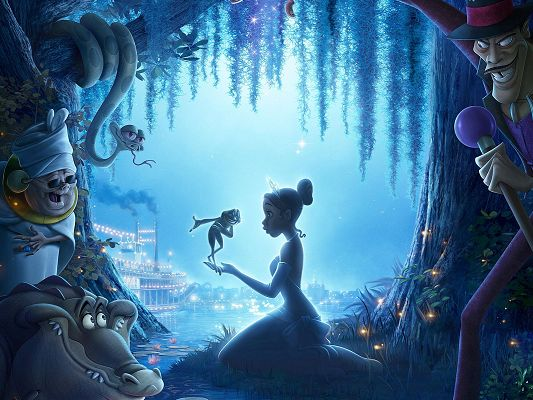 The Princess and the Frog Post in 1600x1200 Pixel, Princess Falling in Love with the Frog, Hope They Will End up Good - TV & Movies Post