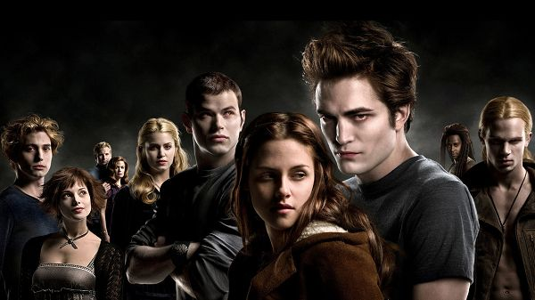 click to free download the wallpaper--The Twilight Saga in 1920x1080 Pixel, Edward and Bella Remain the Most Attractive Among the Crowd, Wish Them Good End - TV & Movies Wallpaper