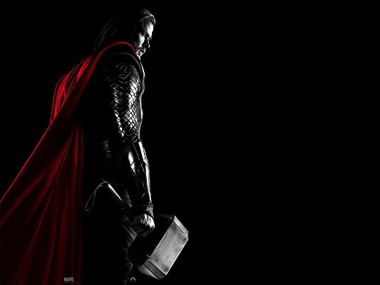 Thor Movie 2011 Post in 1920x1440 Pixel, the Man is in Hammer and Red Cloak, He is Hard to Believe - TV & Movies Post