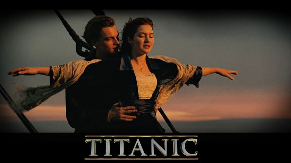 click to free download the wallpaper--Titanic in 3D in 1920x1080 Pixel, Jack and Rose Making the Most Typical Pose, They Are Setting Such a Great Example - TV & Movies Wallpaper