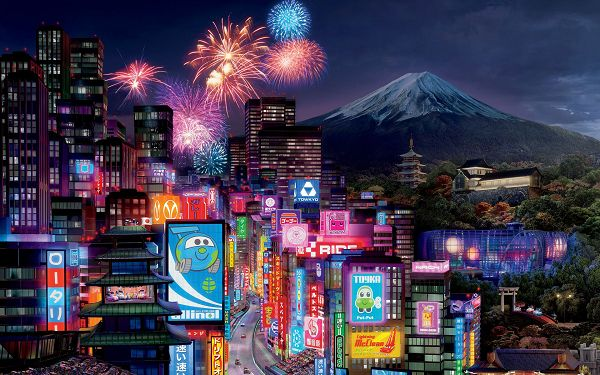 Tokyo City in Cars 2 Post Available in 1920x1200 Pixel, a Colorful and Busy, Happy Cars World is Presented, a Great Fit - TV & Movies Post