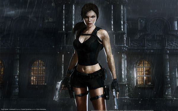 Tomb Raider Underworld Game Post in 1920x1200 Pixel, Lady Caught in the Rain, Suit is Wet, She is More Appealing in This - TV & Movies Post
