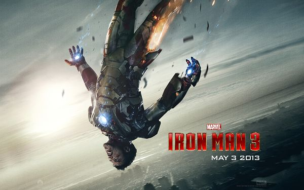 click to free download the wallpaper--Tony Stark Post in Iron Man 3 in 1920x1200 Pixel, a Falling Man with a Broken Leg, Yet He is Sure to be Back Soon -  TV & Movies Post